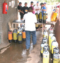 fill station scuba diving